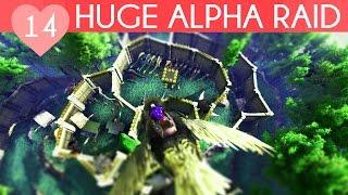 HUGE ALPHA TRIBE RAID | My Private Ark Server | Ark Survival Evolved Gameplay, Episode 14