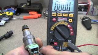 Using a Multimeter to Test Fuel Injector Using Resistance (Ohms)