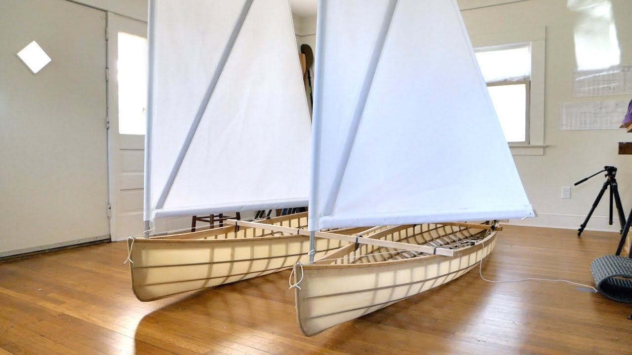 Building a skin-on-frame Canoe, Part 7: prototyping sails and rudders