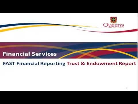 FAST Financial Reporting - Trust and Endowment Report