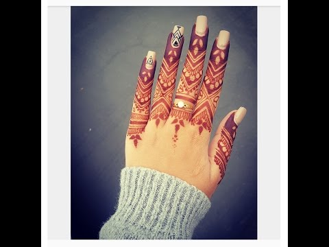DETAILED HENNA DESIGN FOR YOUR FINGERS