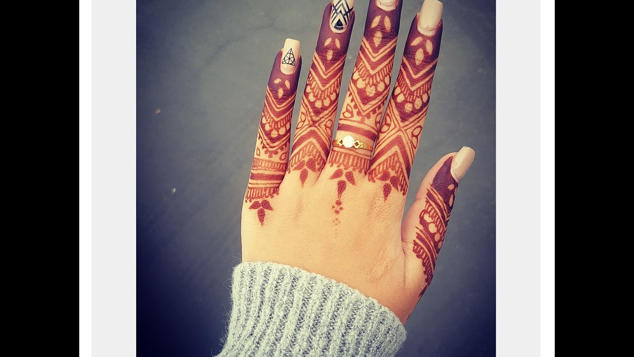 Mehndi Fingers Rating : Detailed henna design for your fingers youtube