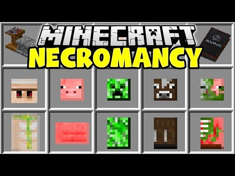 Minecraft NECROMANCY MOD | CREATE MINECRAFT MINIONS TO FIGHT FOR YOU!!