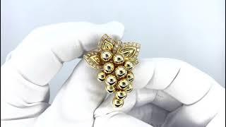 Vidéo: Broche Boucheron Or jaune 18 Cts Vers 1965 avec Diamants.