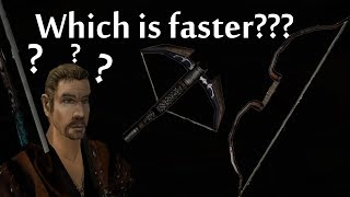 Bow or Crossbow - Which is faster? (Gothic 2)