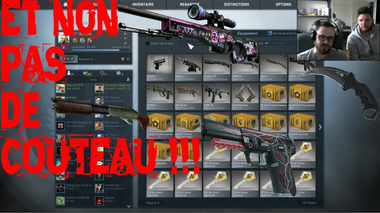 caisse opening spectrum cs go et non pas de couteau youtube. Black Bedroom Furniture Sets. Home Design Ideas