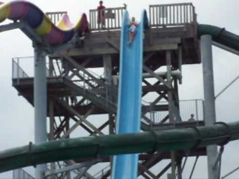 Me on the Screamin' Demon water slide, WaterVille USA, Gulf Shores ...