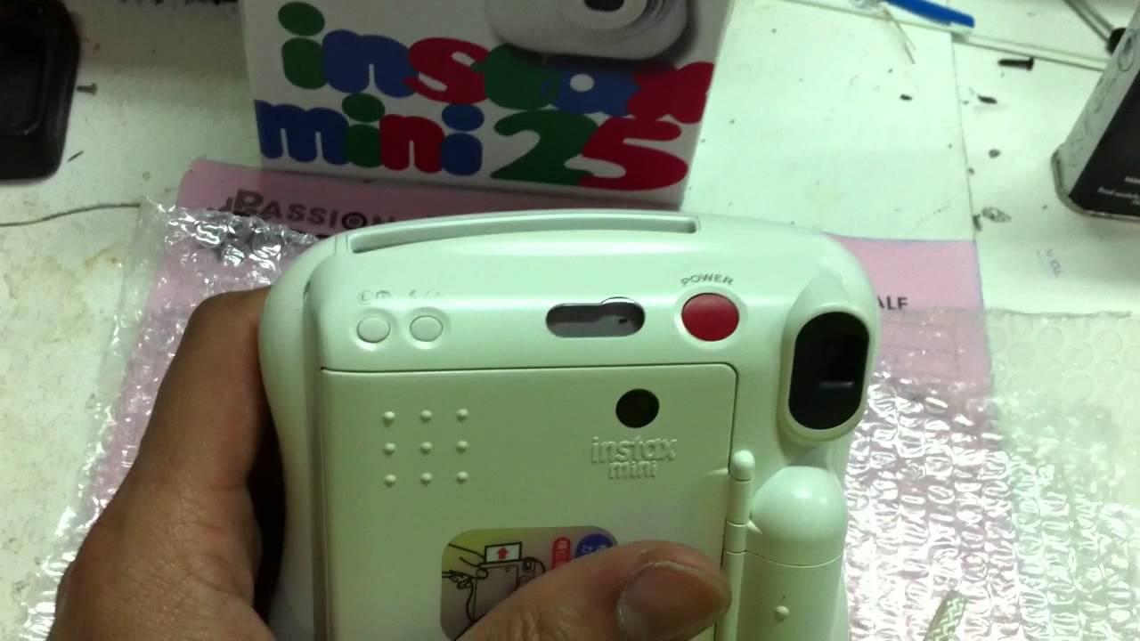 Blinking Flash problem error Fuji Film Instax Mini 25 Polaroid Camera