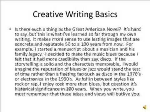 Creative Writing - Cognitive Domain - YouTube