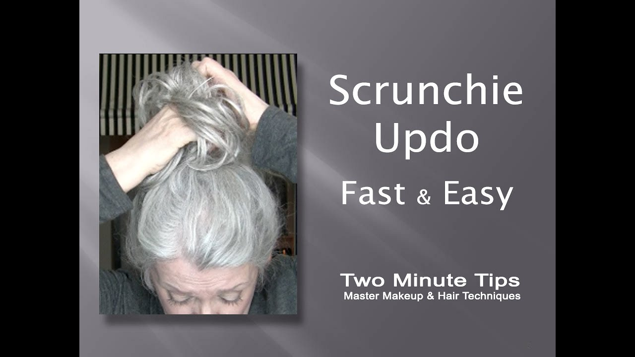 Updo With Scrunchie Fast Amp Easy Youtube