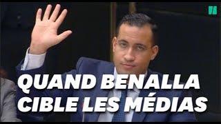 Baixar Benalla critique les médias (mais les cite quand ça l'arrange)