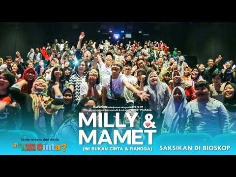 Cover Lagu MILLY & MAMET (Ini Bukan Cinta & Rangga) - Nobar Di Panakukkang 21 Makassar & Media Visit STAFABAND