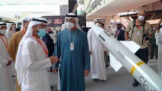 H.H. Sheikh Mohamed bin Zayed Al Nahyan Tours EDGE's Stand at IDEX 2021