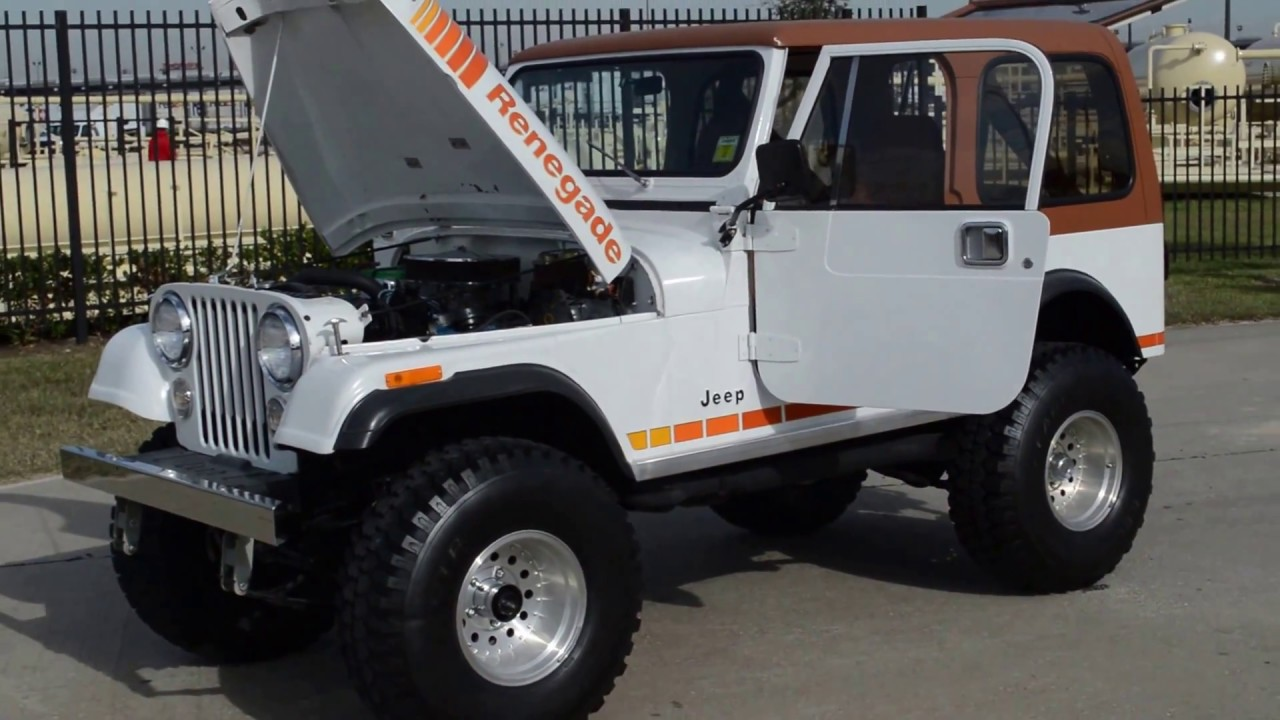 1981 jeep cj7 renegade frank s car barn buy sell and trade classic cars [ 1280 x 720 Pixel ]