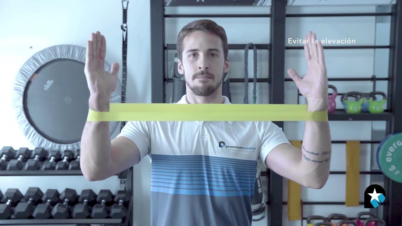 gomas elasticas para rehabilitacion