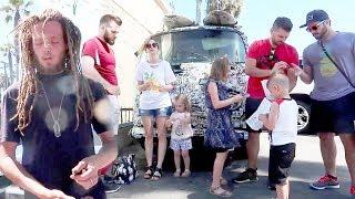 Getting Stone as a Family on California Beach