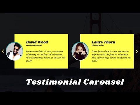 How to Create Testimonial Slider with owl carousel | Owl Carousel 2 | jQuery plugin Tutorial thumbnail