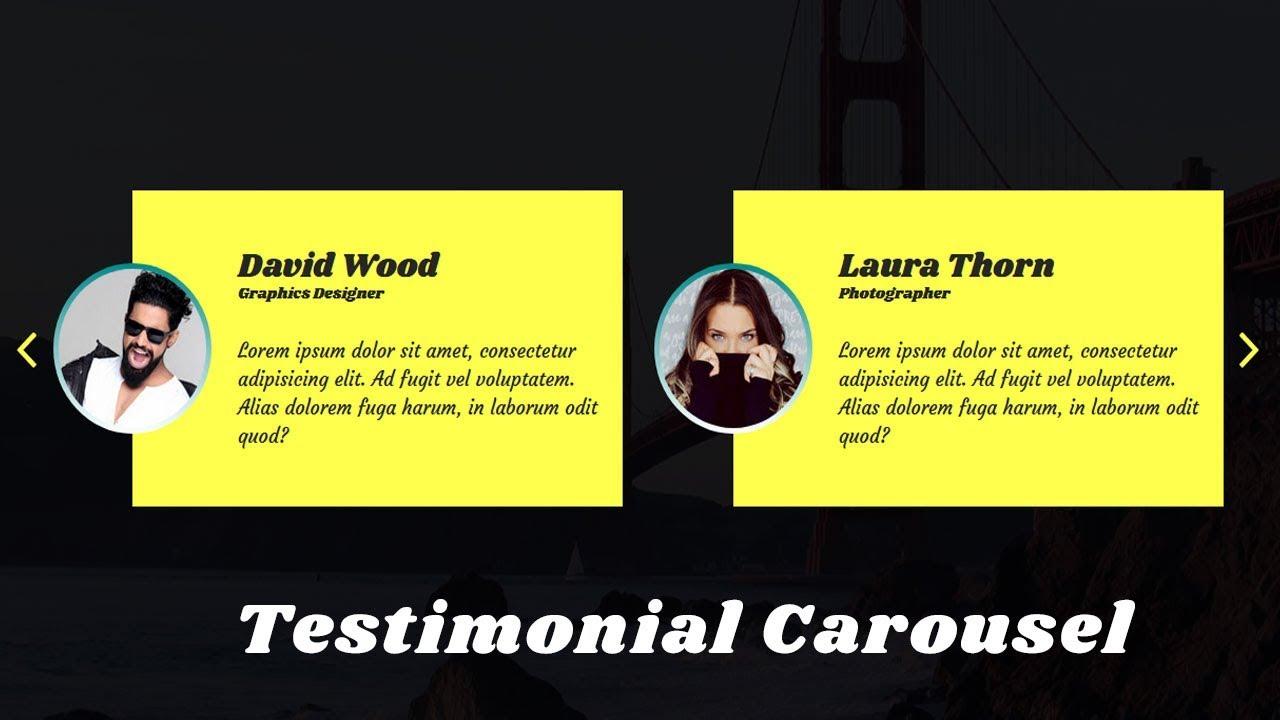 How to Create Testimonial Slider with owl carousel | Owl Carousel 2 |  jQuery plugin Tutorial