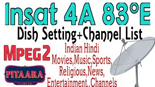 Insat 4A 83e dish setting and channel list|Mpeg2|Indian channels|Pitara channel