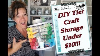 DIY Tier Craft Storage