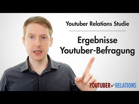Youtuber Relations Studie - Teil 14: Ergebnisse der Youtuber-Befragung