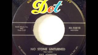 RAY JOHNSON & THE BYSTANDERS - LOVE ALA MODE / NO STONE UNTURNED - DEBB 346 / DOT 15512 - 1956