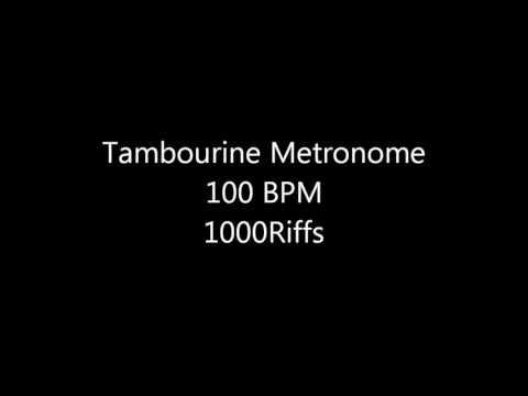 Tambourine Metronome - 100 BPM - Beats Per Minute