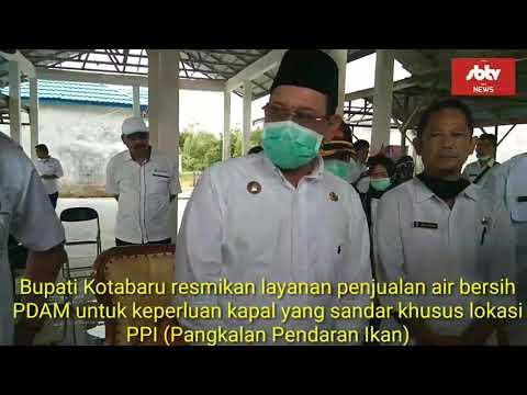 Bupati Kotabaru resmikan layanan penjualan air bersih PDAM untuk keperluan kapal yang sandar lokasi PPI