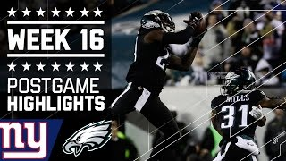 Giants vs. Eagles | NFL Week 16 Game Highlights