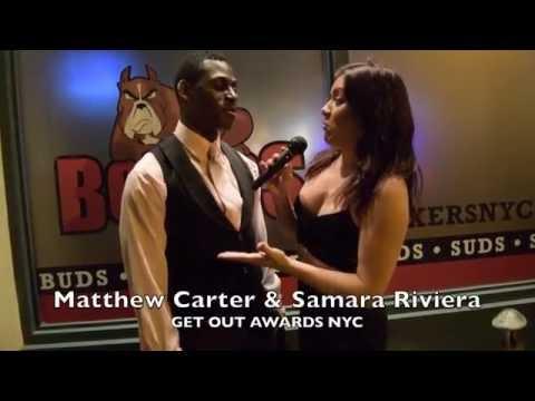 Actor/Author Matthew Carter Get Out Awards NYC 2016