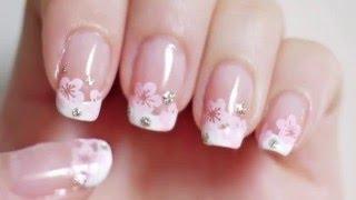 маникюр в домашних условиях -  красивый цветок на ногтях - Рисунки на ногтях(маникюр в домашних условиях - красивый цветок на ногтях - Рисунки на ногтях 3D. Объемный, или трехмерный..., 2016-01-24T08:13:48.000Z)