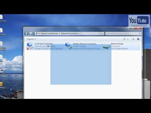 Tutorial: How to bridge network connections in Windows 7.