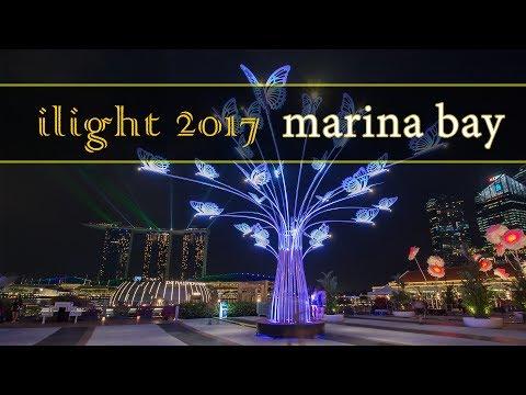 iLight Marina Bay 2017 in Singapore Timelapse Hyperlapse Video
