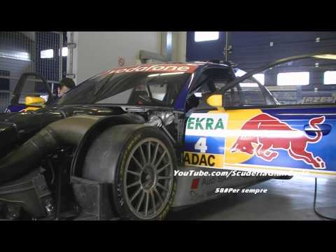 Audi A4 DTM, great hard and deep warmup and flybye sounds!!!1080P*HD