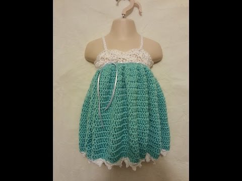 CROCHET How to #Crochet Easy Baby Toddler Adjustable Size Spring Easter Dress Gown #TUTORIAL #222