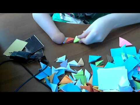 Как нарезать заготовки для модулей. Модульное оригами.