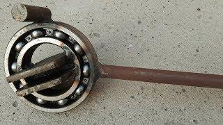 Güçlü etkili metal bükme aleti yaptık - steel