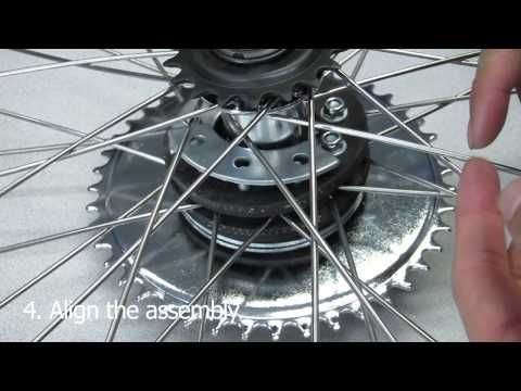 "How to Install Motorized Bike Rear Sprocket Assembly on 26"" Wheel"