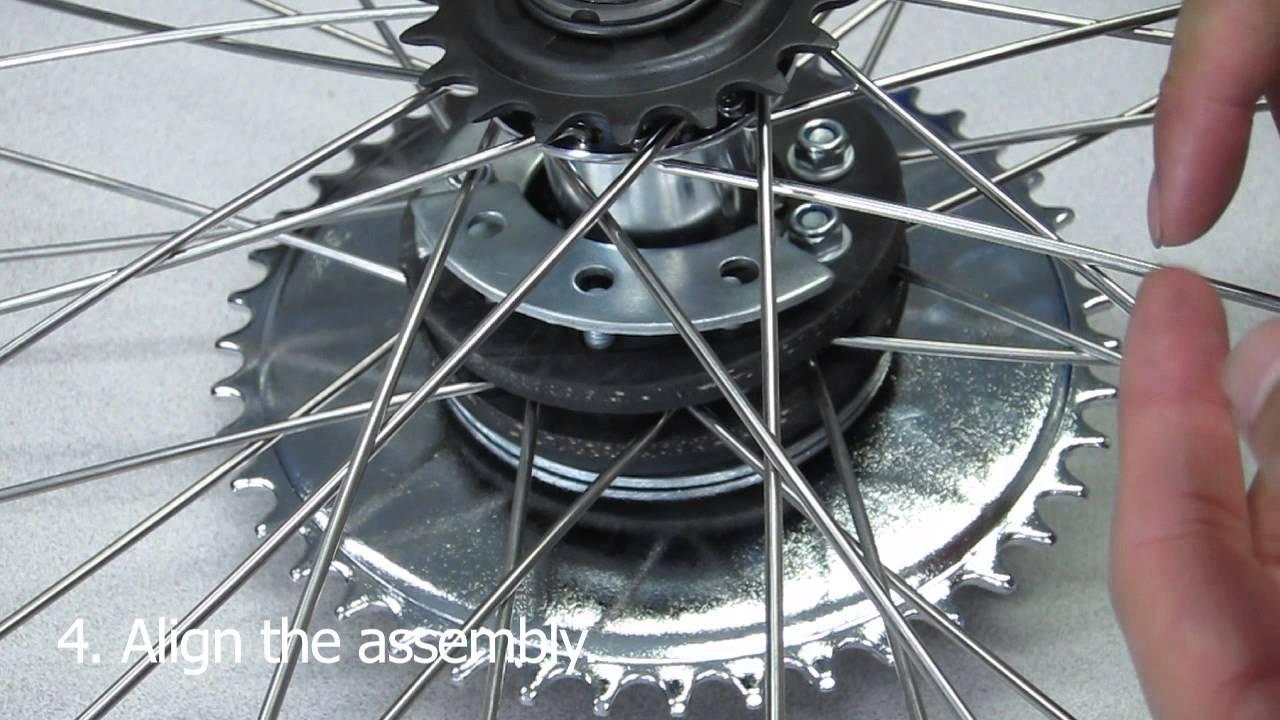 how to install motorized bike rear sprocket assembly on 26 wheel youtube [ 1280 x 720 Pixel ]