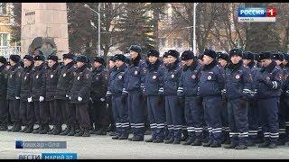 В Йошкар-Оле прошёл гарнизонный развод полицейских нарядов - Вести Марий Эл