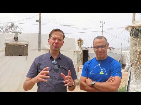 Mario Wahnschaffe and George Merheb about the school project (AVC) in Bekaa Valley