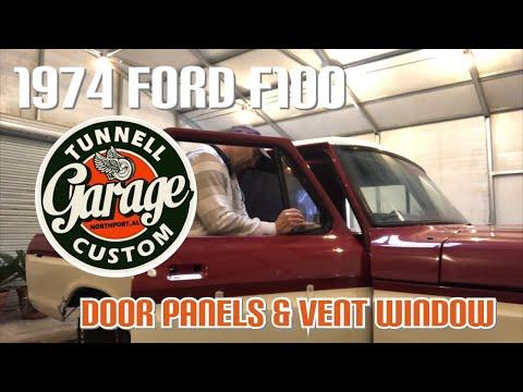 Video 73: 1974 Ford F100 Restoration- Door Panels, Trim & Window Sweeps