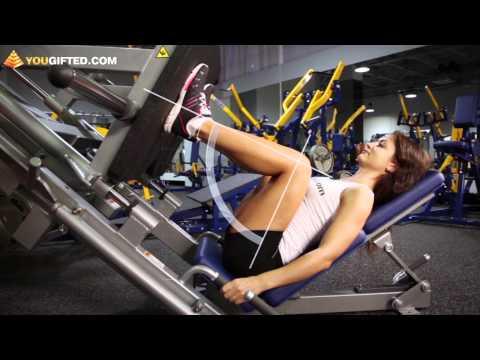 Фитнес. Упражнения для ног. Жим ногами.