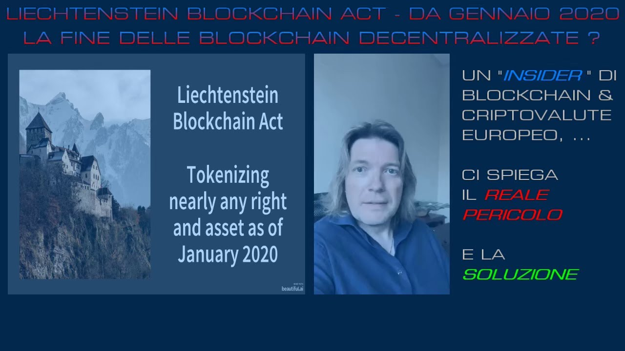 "In arrivo lo ""tsunami"": ""LIECHTENSTEIN BLOCKCHAIN ACT"" !!! - HD"