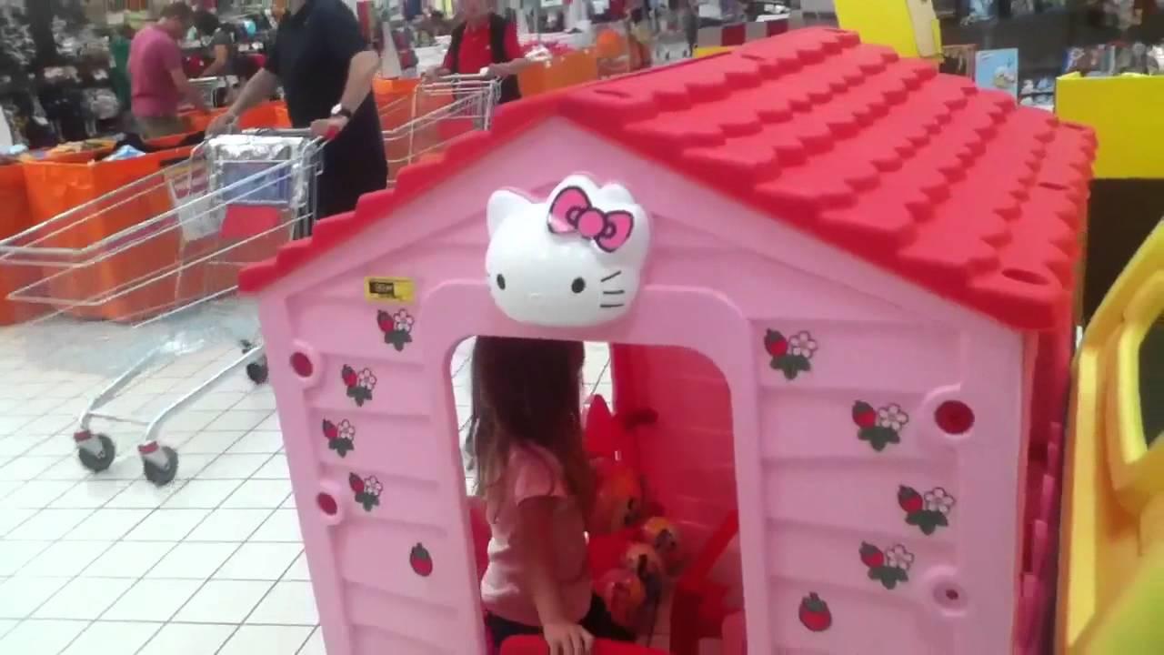 Chiara nella casa di hello kitty allipercoop youtube