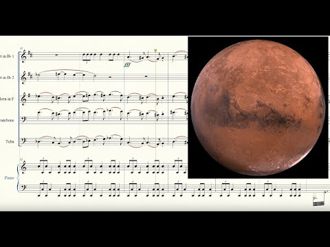 The Planets: Mars for Brass Quintet and Piano Sheet Music