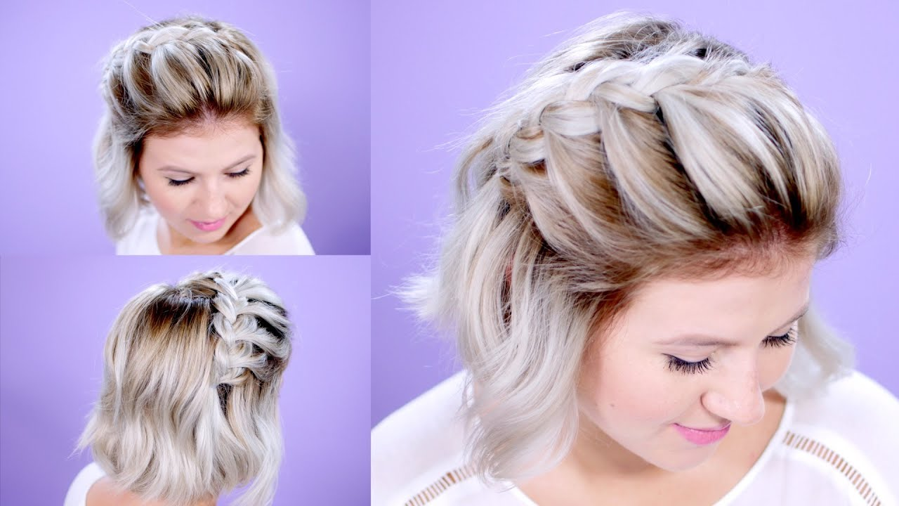 how to french braid short hair tutorial | milabu