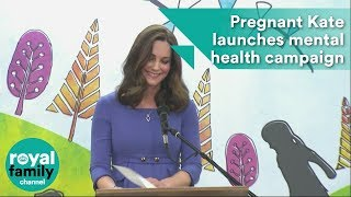 Pregnant Kate launches mental health campaign in primary schools
