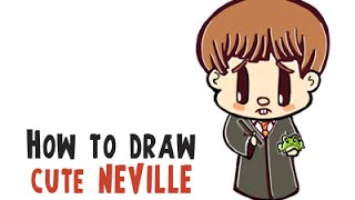 How to Draw Neville Longbottom With His Toad Trevor (Harry Potter Chibi/Cutie Collection)