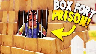 CAN WE TRAP THE NEIGHBOR IN OUR BOX FORT PRISON?! | Hello Neighbor Gameplay